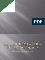 La axiología, la ética y la antropología