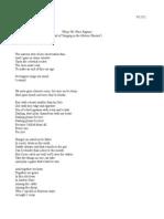 When We Were Raptors (Ballad of 'Singing in the Meteor Shower')