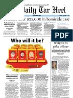 The Daily Tar Heel for September 13, 2012