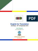 English for Translation Class2 Module2&3 (20120916)