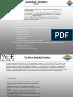 Analytical ChemistryCh1