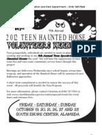Haunted House Volunteers 2012