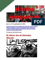 Noticias Uruguayas Jueves 13 de Setiembre Del 2012