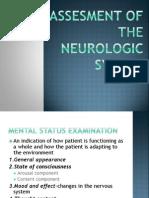 Assesment of the Neurologic System