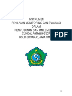 Dody Firmanda 2012 -  Instrumen Monitoring Dan Evaluasi Clinical Pathways RSUD Sidoarjo Jawa Timur 17-18 September 2012
