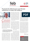 Poursuivre les réformes pour que l'Europe redevienne un moteur de croissance, Infor FEB 27, 13 septembre 2012