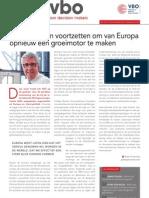 Hervormingen voortzetten om van Europa opnieuw een groeimotor te maken, Infor VBO 27, 13 september 2012