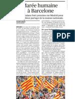 20120912 LeFigaro Manifestacion Cataluña Independencia