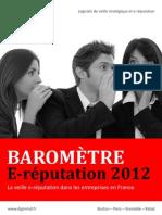 Barometre E Reputation 2012