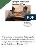 Developing an Individual Education Plan