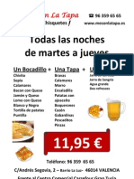 Mesón La Tapa - Cena - Bocadillos