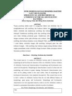 Karakteristik Morfologi Dan Biokimia Bakteri Laut Selulolitik