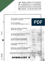 Cahiers de la Société Augustin Barruel 02. 1975. pénétration maçonnique dans la société chrétienne