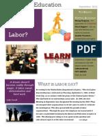 Passion in Education Newsletter September 2012