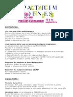Programme complet Journées patrimoine 2012 à Ornans