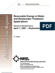 Nrel Renewable Ene for Water