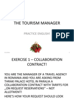 The Tourism Manager. Practice English