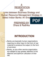Impirical Study on Hrm vs Business Strategy in Indian Bank