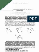 Determination of Enantiomer of Methyl Jasmonate