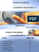 Overseas Market Selection -i
