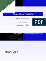 Prof. Milton Lopes - Matemática e Realidade