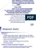 Atucha I Seismic Safety Evaluation Program