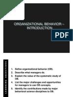 Introduction - Organizational Behaviour