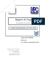 Rapport de Stage d'Application - GPC Carton