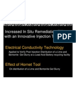 ZEBRA Environmental Increased in Situ Remediation Efficacy With Sidwwinder Injection Technology and Electrical Conductivity Tracking