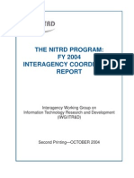 The NITRD Program - FY2004 Interagency Coordination Report