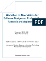 Workshop on New Visions for Software Design and Productivity - Research and Applications