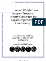 Dietary Guidelines Sleeve Gastrectomy