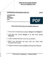Trial Ekonomi Asas SPM kertas  2 Kuala Lumpur 2012