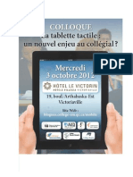 "Programme du colloque ""La Tablette tactile"
