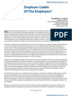 When is the Employer Liable for Acts of the Employee?