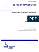 Agroterrorism- Threats and Preparedness