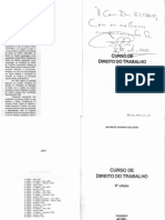 curso de direito de trabalho - mauricio godinho delgado -  9ª edição, 2010 - ed. lrt