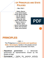 Declaration of Principles and State Policies(1)