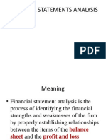 Financial Statemnts Analysis