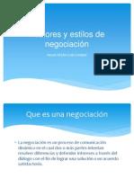 EXPOSICION (Factores y estilos de negociación)