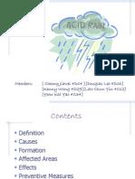 AcidRain and Its Effect