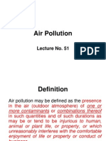 Lec # 51 a.pollution and Its Effects and Sources