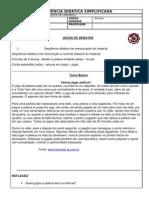 SEQUÊNCIA DIDÁTICA-Ed física-Peteca (5ª e 6ª)