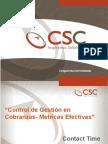 Control de Gestión en Cobranzas-Métricas Efectivas