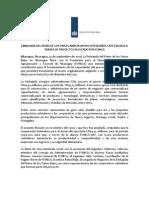 Comunicado de Prensa - Firma de Enmienda d Acuerdo Con FUNICA - 13 de Septiembre 2012