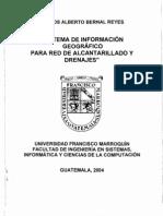 Sistema de Información Geográfico para Red de Alcantarillado y Drenaje