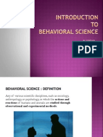 Behavioural Science Seminar