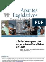 Reflexiones Para Una Mejor Educacion Publica en Chile