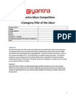 Sample Template for Ideas Competition