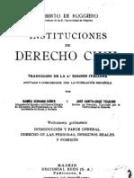 Instituciones del Derecho Civil -I